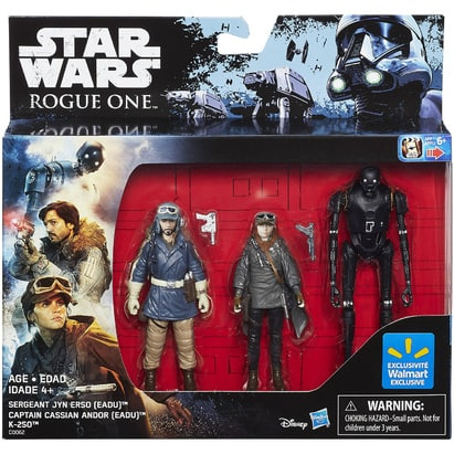 Star Wars Rogue One Rebel Figure 3-Pack (Walmart Exclusive)
