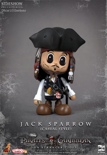 Pirates of the Caribbean: On Stranger Tides Cosbaby: Captain Jack Sparrow