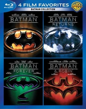 4 Film Favorites: Batman Collection (Batman / Batman Returns / Batman Forever / Batman & Robin)